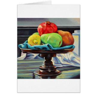 Pomegranate Pear Lemon Pedestal Card
