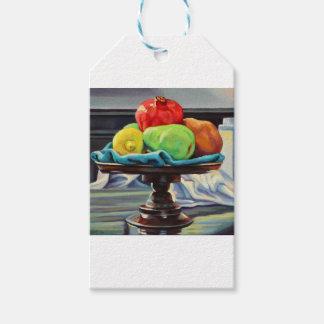 Pomegranate Pear Lemon Pedestal Gift Tags