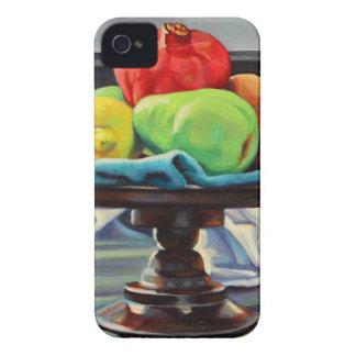 Pomegranate Pear Lemon Pedestal iPhone 4 Cases