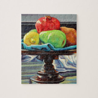 Pomegranate Pear Lemon Pedestal Jigsaw Puzzle