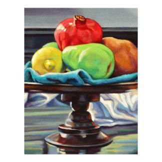 Pomegranate Pear Lemon Pedestal Letterhead