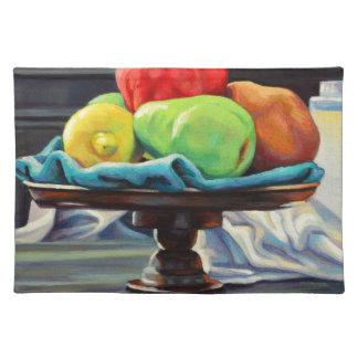 Pomegranate Pear Lemon Pedestal Placemat