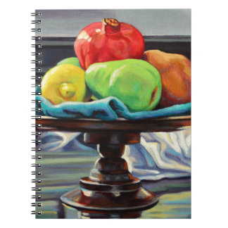 Pomegranate Pear Lemon Pedestal Spiral Notebook