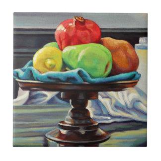 Pomegranate Pear Lemon Pedestal Tile