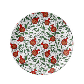 Pomegranate Porcelain  Plate