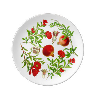 Pomegranate Porcelain Plate (You can customize)