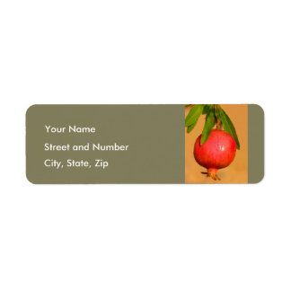 Pomegranate Rosh HaShana Return Address Label
