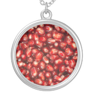 Pomegranate Silver Plated Necklace