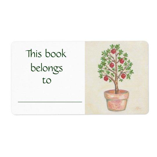 Pomegranate Tree book label