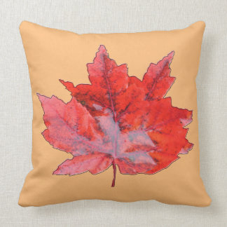Pomegranate Wet Leaf Throw Pillow
