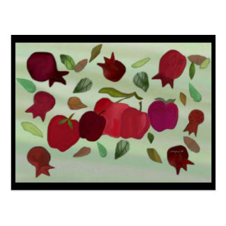 Pomegranates and Apples Sweet Year Postcard