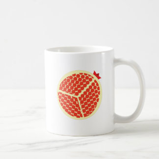 pomegrante in the inside coffee mug