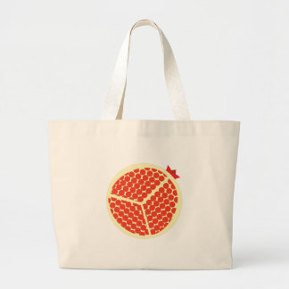 pomegrante in the inside large tote bag