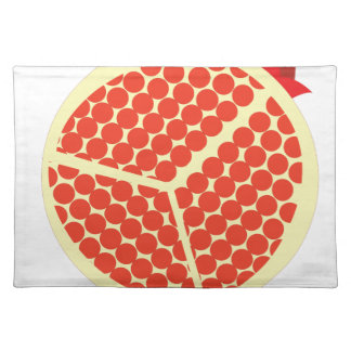pomegrante in the inside placemat