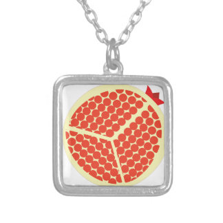 pomegrante in the inside silver plated necklace