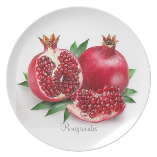 Pomegrates on Melamine Plate, Collection Plate