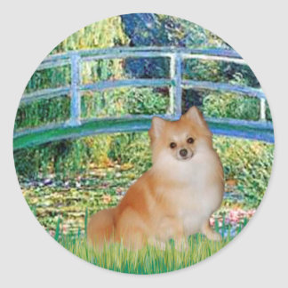 Pomeranian 3 - Bridge Classic Round Sticker