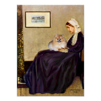 Pomeranian 4 - Whistlers Mother Poster