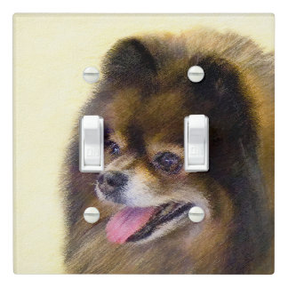Pomeranian (Black and Tan) Light Switch Cover