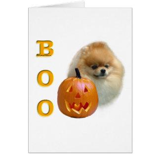 Pomeranian Boo Card