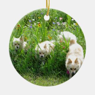 Pomeranian Ceramic Ornament