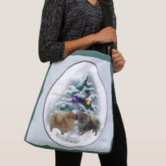 Pomeranian Christmas Crossbody Bag