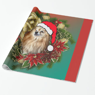 Pomeranian Christmas gift wrap