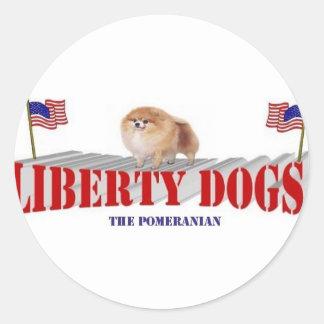 Pomeranian Classic Round Sticker