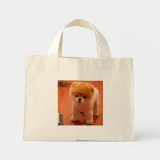 Pomeranian-cute puppies-spitz-pom dog-pom puppies mini tote bag