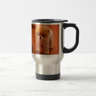 Pomeranian-cute puppies-spitz-pom dog-pom puppies travel mug