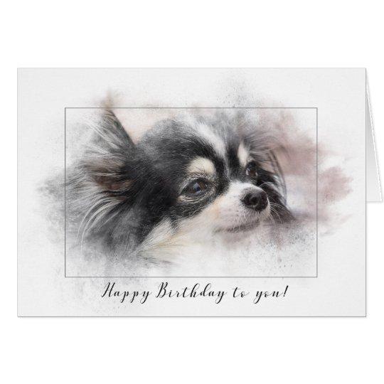 Pomeranian dog birthday card