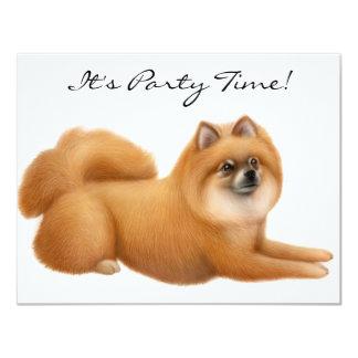 Pomeranian Dog Party Invitations