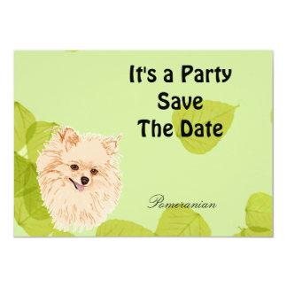 Pomeranian - Gold Leaves Design Card