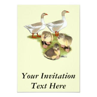 Pomeranian Goose Family Card