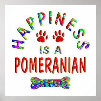 Pomeranian Happiness Poster