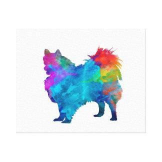 Pomeranian in watercolor canvas print