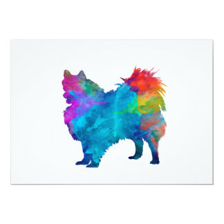 Pomeranian in watercolor card