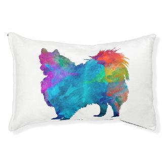 Pomeranian in watercolor pet bed