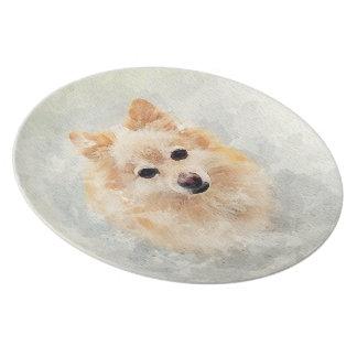 Pomeranian lover plate! Ginger Pomeranian Dog Plate