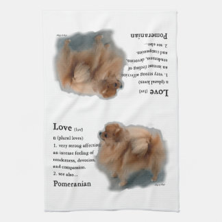 Pomeranian Lovers Gifts Kitchen Towel