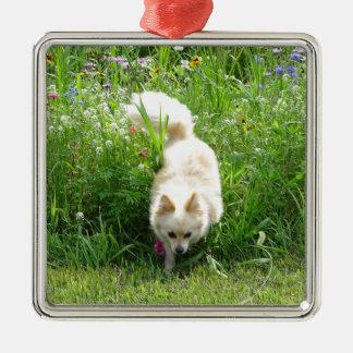 Pomeranian Metal Ornament