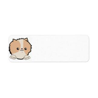 pomeranian peeking beaver