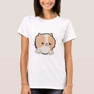 pomeranian peeking beaver T-Shirt