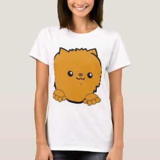 pomeranian peeking orange T-Shirt