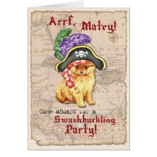 Pomeranian Pirate Card