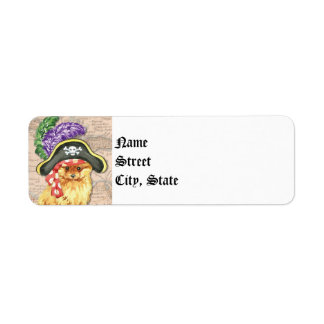 Pomeranian Pirate Return Address Label