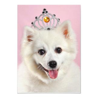Pomeranian Princess Card