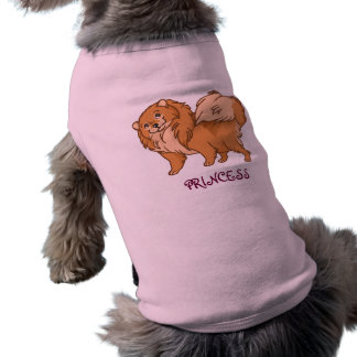 Pomeranian Princess Doggie Tee Shirt