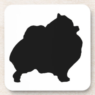 Pomeranian silhouette coaster