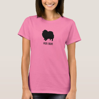 Pomeranian Silhouette - Pom Mom - Custom Text T-Shirt